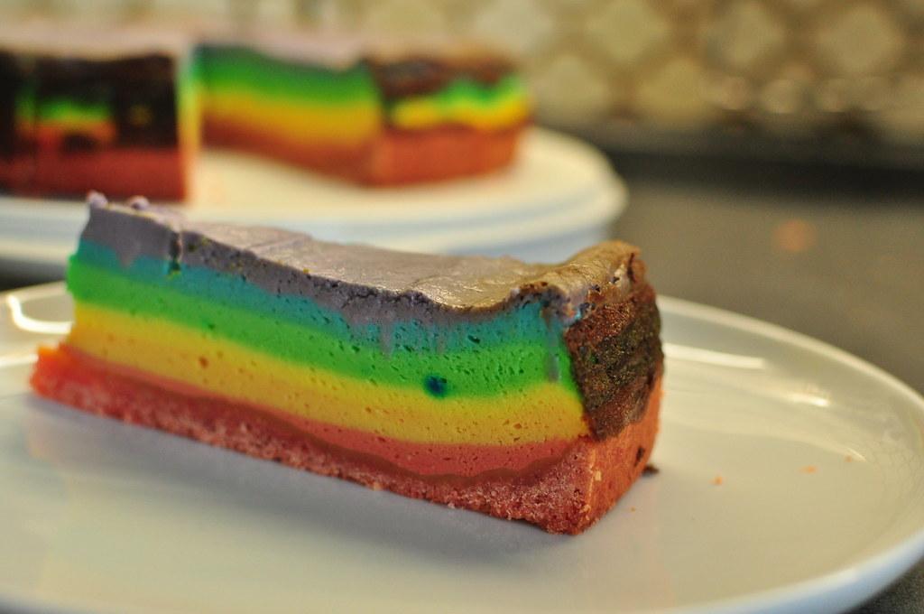 Regenbogen kuchen bunt appetitlich foto blog f r sie - Kuche ohne fliesenspiegel ...