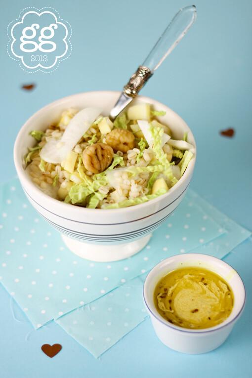 insalata invernale di farro, verza, rape e senape