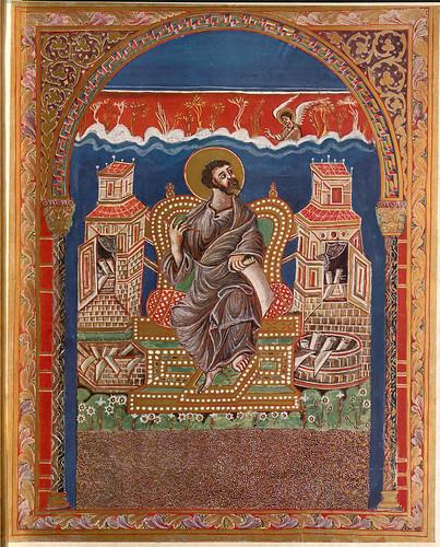 006-Imagen del Evangelista Mateo-Evangeliar  Codex Aureus - BSB Clm 14000-© Bayerische Staatsbibliothek