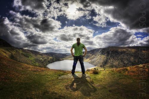 ireland selfportrait standing landscape wicklow 366 60d canon60d aphotoadayforayear project366 countywicklowireland 366project possessed2fisheye 3662012 366project2012