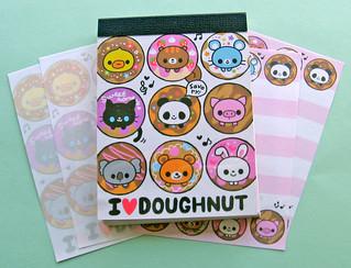 Q-lia I Heart Doughnut Mini Memo