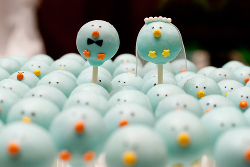 Bride & Groom Bird Cake Pop