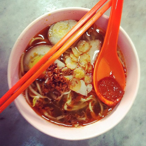 Breakfast in Georgetown: Hokkien mee.