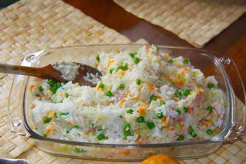 Chinese Rice With Three Delights