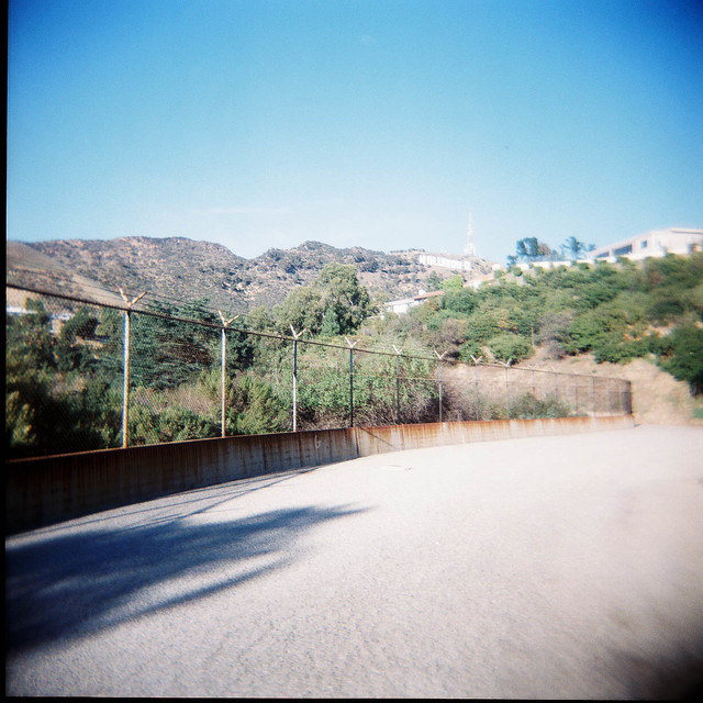 holga hollywood sign