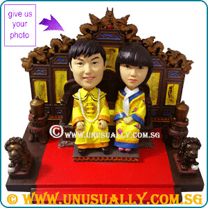 Custom 3D Majesty & Empress Figurines - @ www.unusually.com.sg