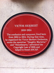 Photo of Victor Herbert red plaque