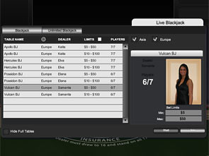 Titan Bet Live Casino Lobby