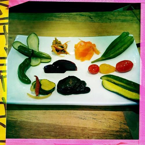 Pickle tasting platter