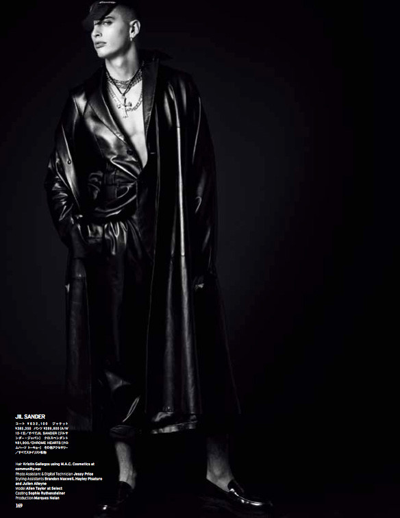 Awake To The Season — Vogue Hommes Japan, Spring/Summer 12 — Allen Taylor by Nicola Formichetti