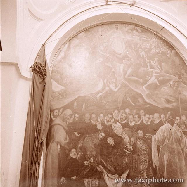Entierro del Señor de Orgaz en los años 20. Fotografía de José Villar Martelo