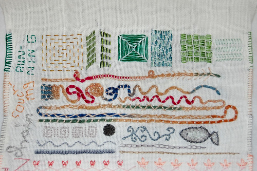 tast 2012 #10: running stitch