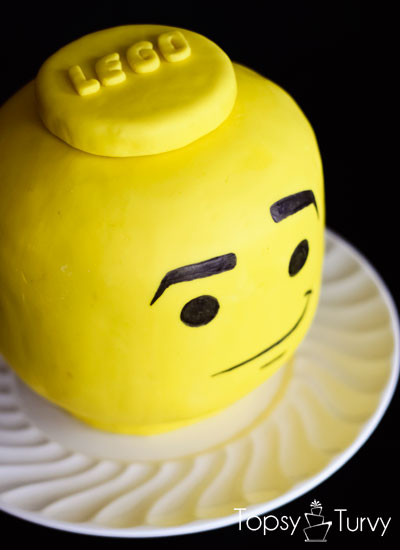 how to make a lego head cake