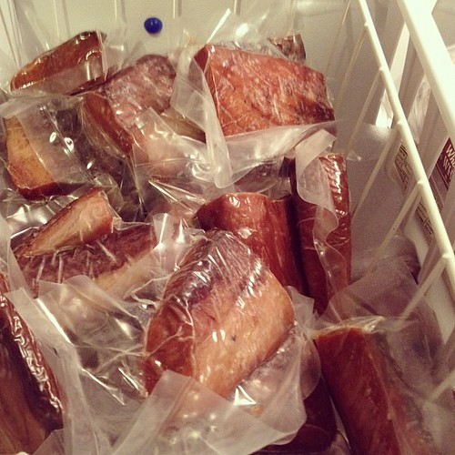 It's mostly just fish in our chest freezer. #marchfoodphotos por krysaia, en Flickr