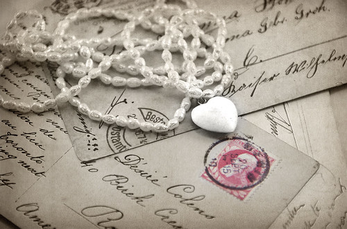 Pearls on postcards by jpbeth