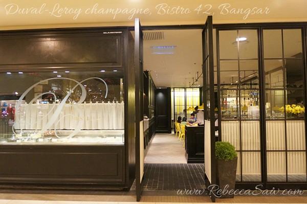 Duval-Leroy champagne, Bistro 42 Bangsar