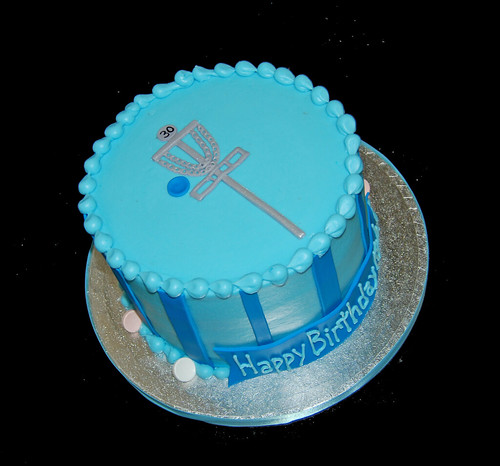 Disc Golf 30th Birthday Cake