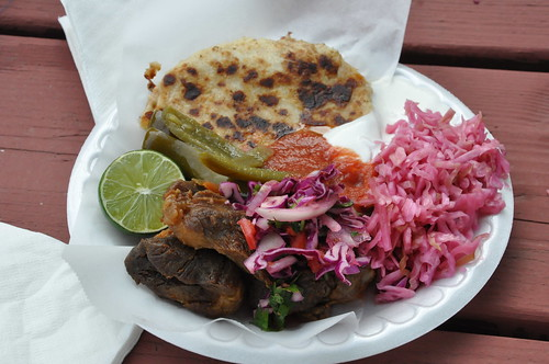 Pupusas with Chicharron