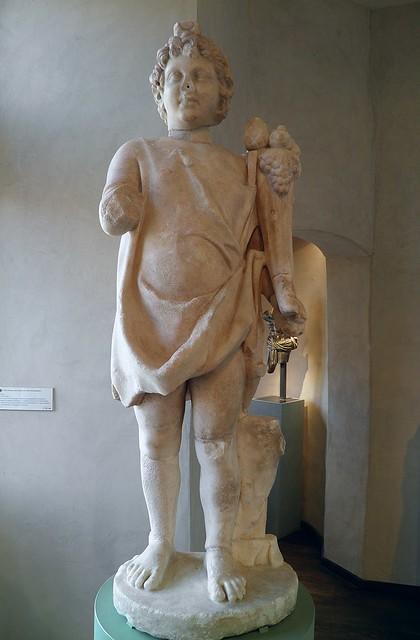 Dieu Harpocrate tenant une corne d'abondance, II° ou III° siècle, MSR, Musée Saint-Raymond, Villa romaine de Chiragan, Musée des Antiques de Toulouse