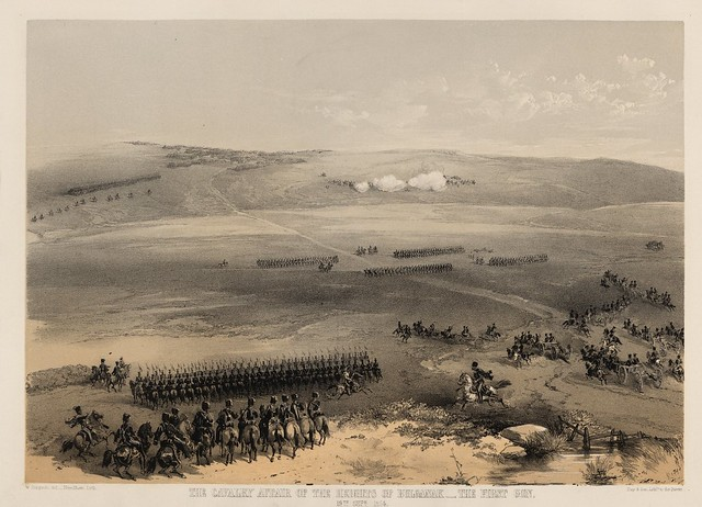 The cavalry affair of the heights of Bulganak - the first gun, 19th Sepr. 1854