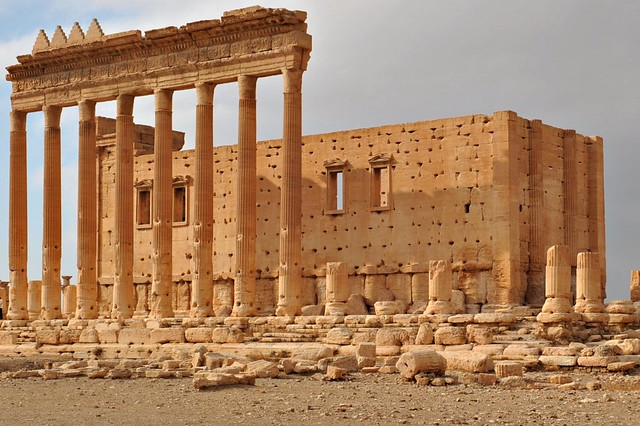 302  Temple of Bel before its destruction in August 2015, Palmyra - Syria