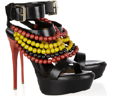 SS2012 beaded Burberry shoes 2
