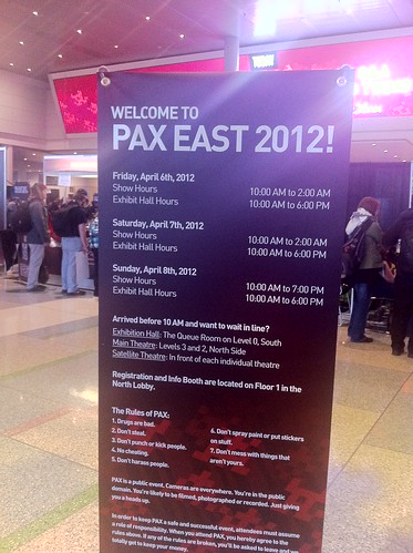 welcome to pax east 2012