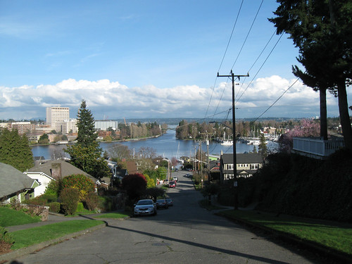 Seattle Rides 1: Winter 2012 - Montlake Bridge from Capitol Hill