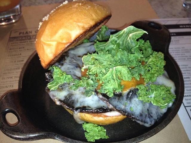 Plan Check's Stuffed Portabello Mushroom Burger by Caroline on Crack