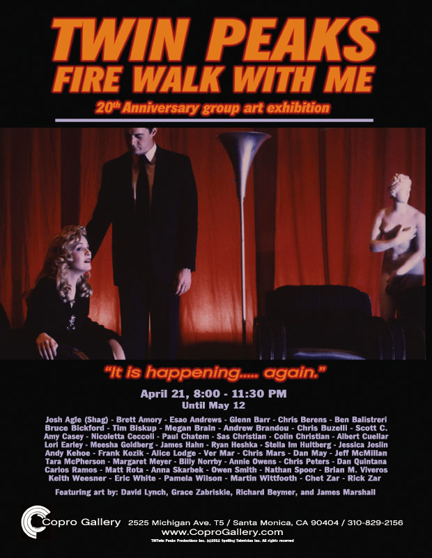 Twin Peaks : Fire Walk With Me 20th Anniersary Group Art Exhibit : Flyer