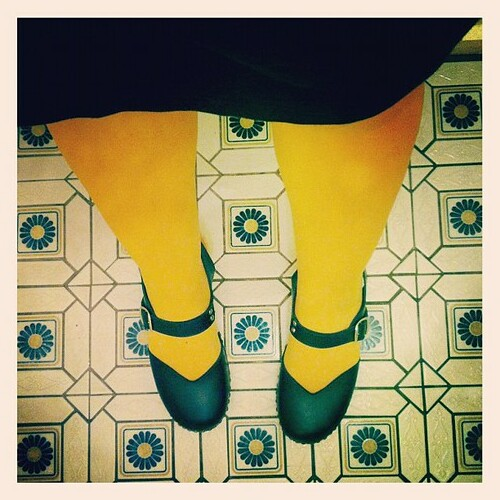It's a mustard tights kinda day... Where's my hot dog?!!!