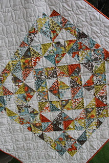 Close up of the quilting, love the texture!