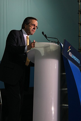 Conservative leader, Antonis Samaras at election rally - Thessaloniki, Greece by Teacher Dude's BBQ