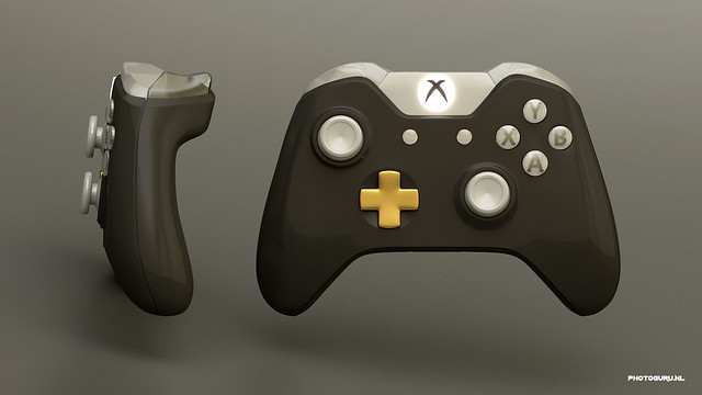xbox one controller front and side view