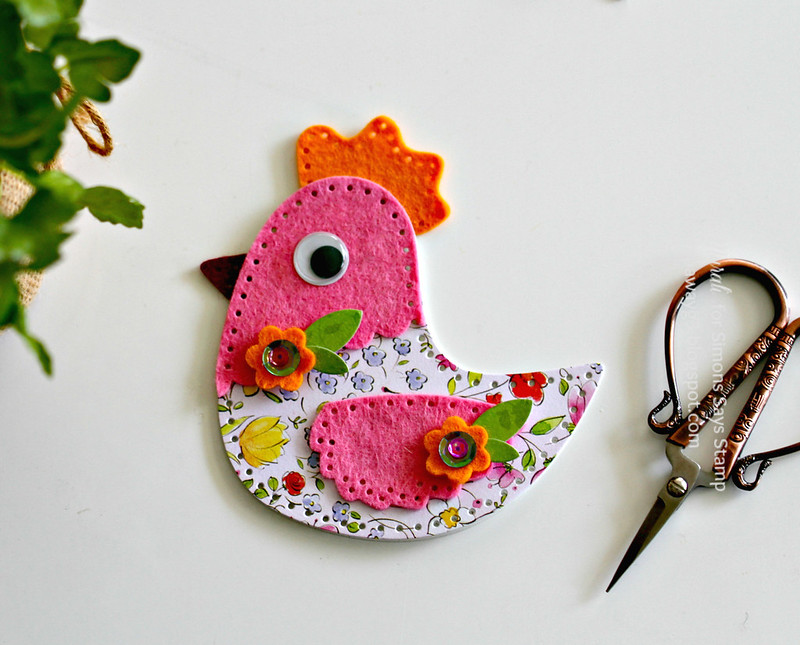 Colourful felt chick flat