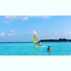#Beautiful #day #maldives #windsurfing #enjoying #worldofdreams #natural #beautifulmladives