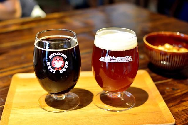常陸野ネストビールのペールエールとスウィートスタウト