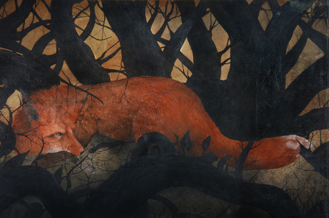 Fox Through a Dark Wood