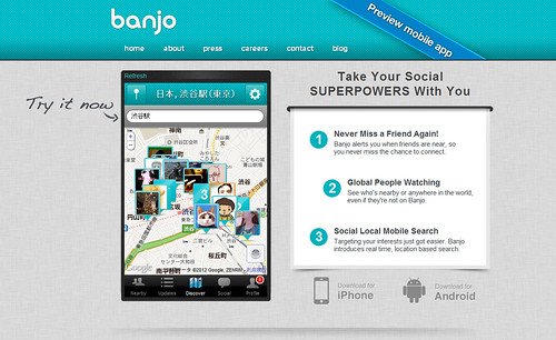 Try banjo on the web