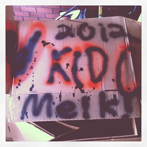 It was supposed to say love kcdc but my cans were frozen and leaking oh well...viva la kcdc by thismeik