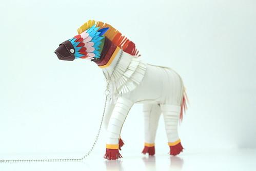 Rainbow horse.