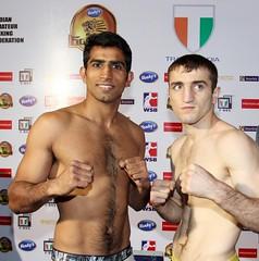 01/03/2012 Weigh-in Venky's Mumbai Fighters vs Baku Fires