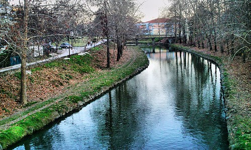 city bridge trees water reflections river countryside greece hdr trikala thessaly θεσσαλία ποτάμι lithaios τρίκαλα ληθαίοσ