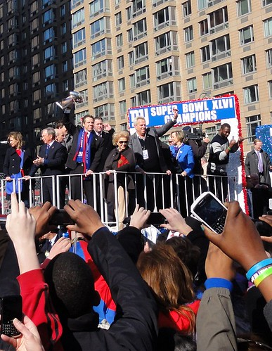 Vince Lombardi Trophy at the New York Giants Homecoming Parade