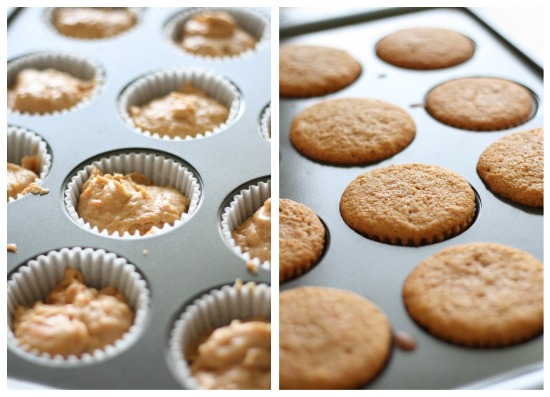 raw to baked cupcakes