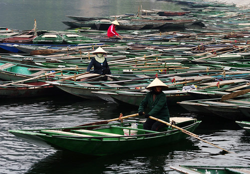 Boats in Van Lam by Gregor  Samsa