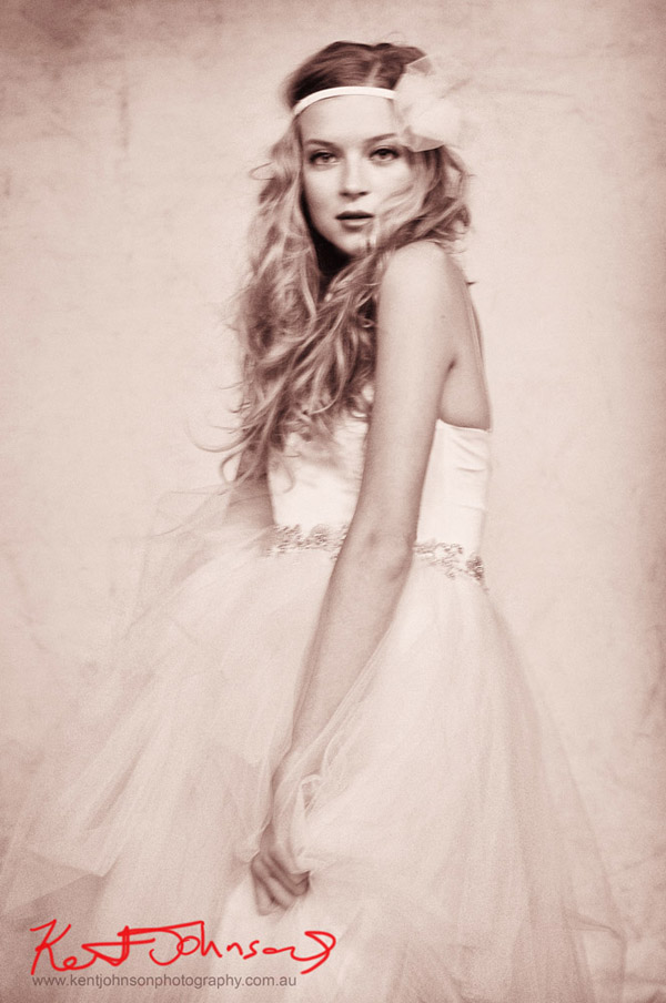 Tulle skirt Portrait in Wedding Dress with beaded waistband by Melissa Carmichael