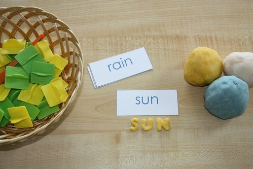 Weather Playdough and Word Cards (Photo from Counting Coconuts)