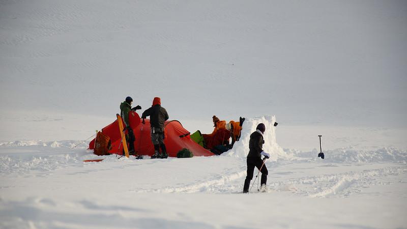 Camp and ski