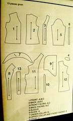 New Look 6898 pattern pieces
